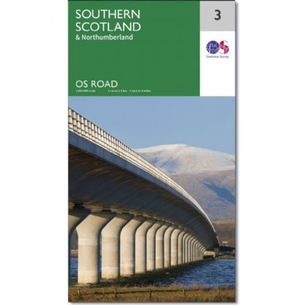 Ordnance Survey Road Map 3 - Southern Scotland